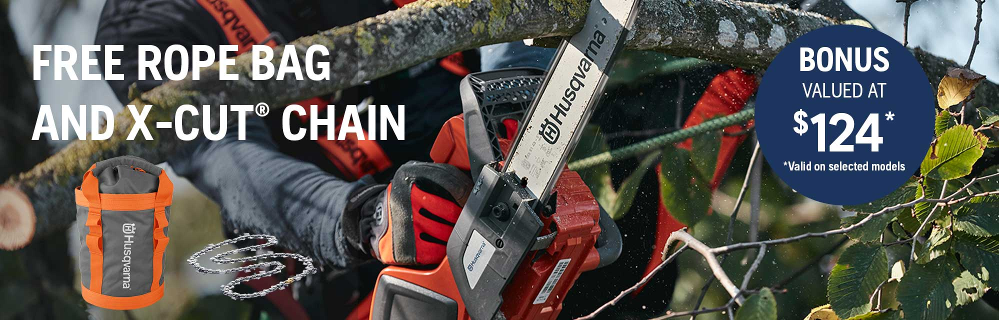 Chainsaws - FREE ROPE BAG AND CHAIN